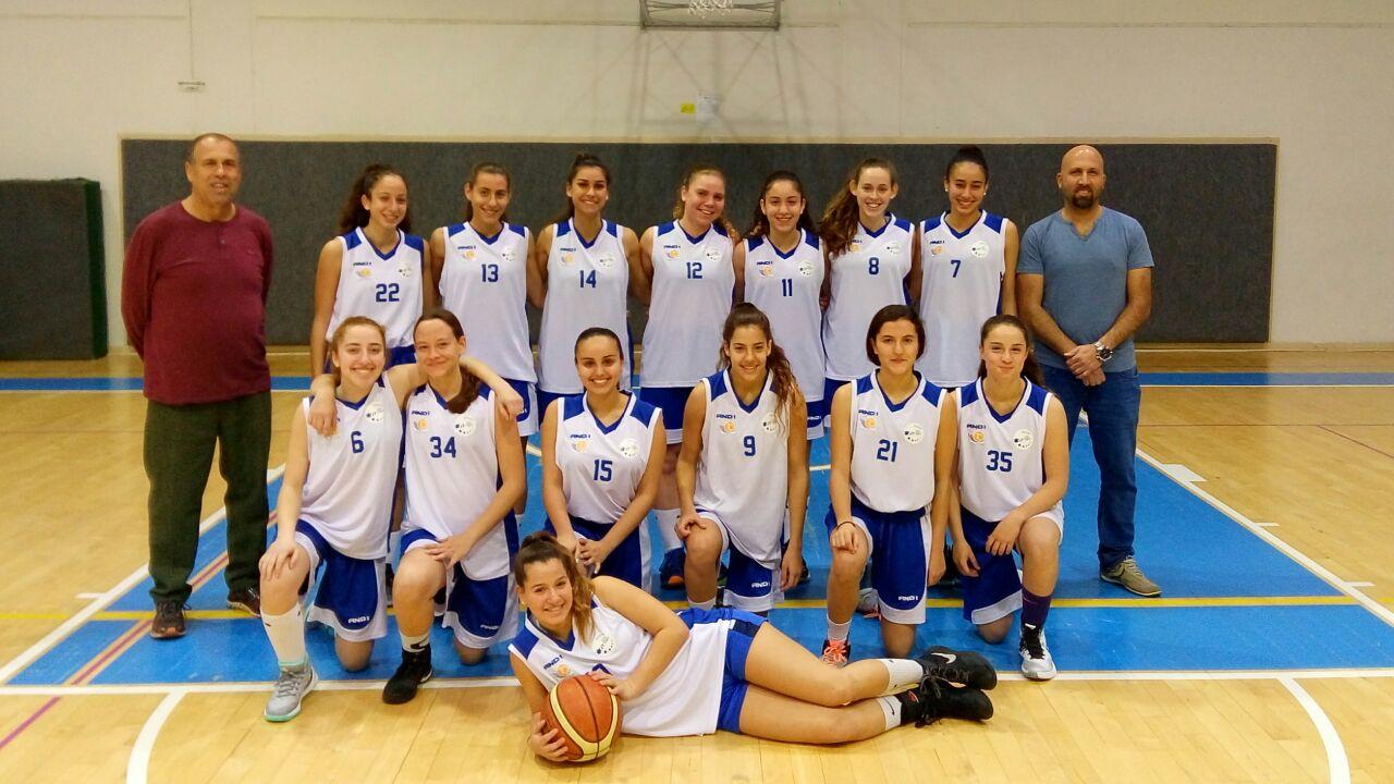 בנות הרצליה נערות א' צילום: באדיבות קבוצת נערות א' של בנות הרצליה בכדורסל