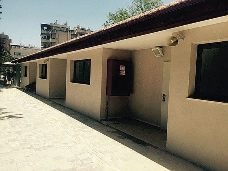 עבודות שיפוץ בבית ספר אופק. צילום: עיריית הרצליה