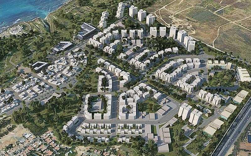 הדמיית תכנית אפולוניה. הדמיה: רשות מקרקעי ישראל