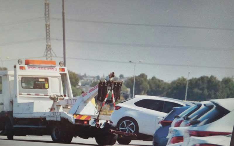 רכב הגרר של רפי אפומדו. צילום: משטרת ישראל