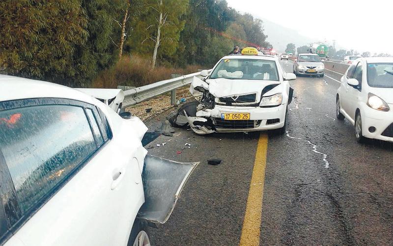 תאונת דרכים. צילום: דוברות מגידו