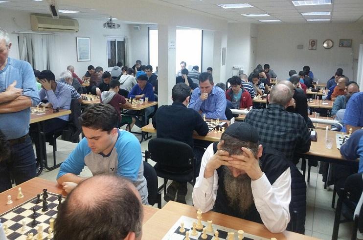 אולם המשחקים במועדון השחמט בהרצליה
