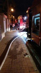 שריפה ברחוב קפלן בהרצליה. צילום: משטרת ישראל
