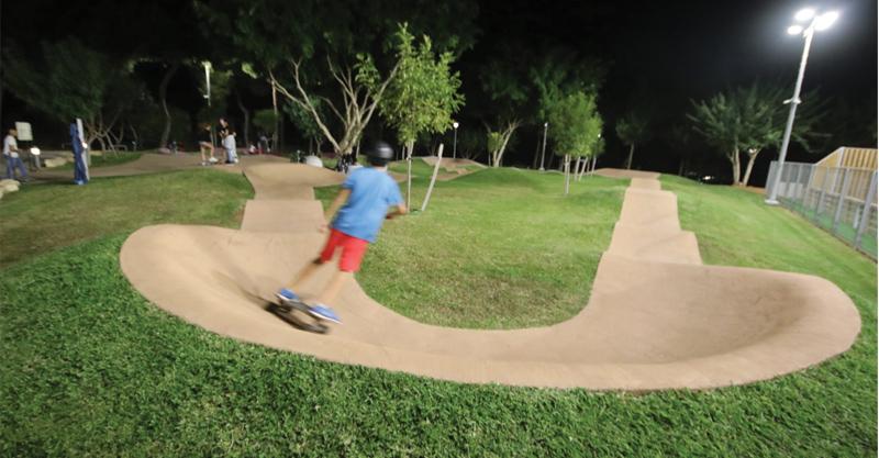 פארק אתגרי לאופניים בכפר שמריהו צילום: איקי מימון