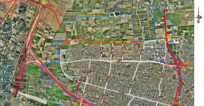 תכנית הכבישים של רעננה. באדיבות עיריית רעננה