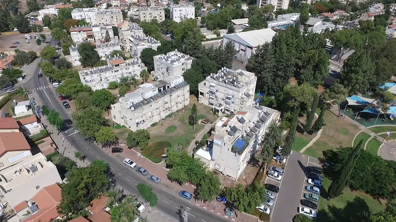 הבניינים בנווה ישראל בהם יתבצע פרויקט הפינוי בינוי. צילום: אסף אמר