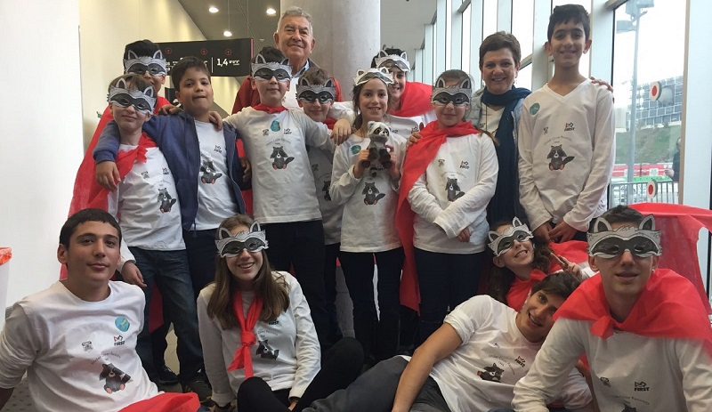 """נבחרת הרובוטיקה של """"יוחנני"""". צילום: עיריית הרצליה"""