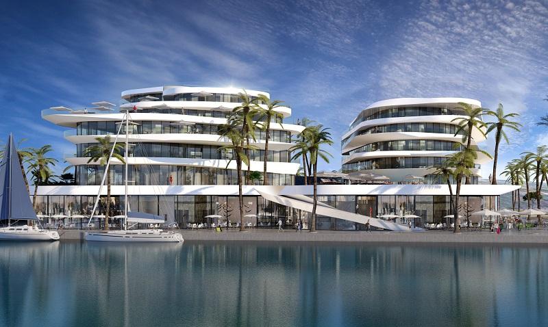 הדמיה של המלון החדש שייבנה בהרצליה. ביצוע: Viewpoint