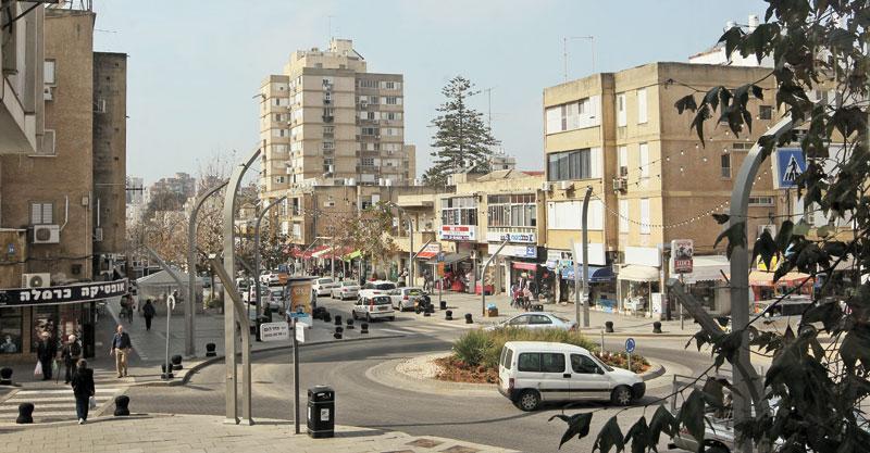 רחוב סוקולוב. צילום עזרא לוי