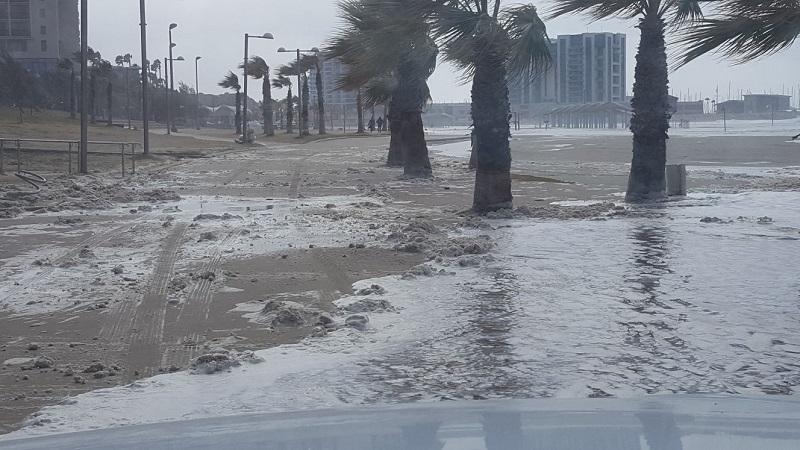 חוף הים בהרצליה, היום. צילום: עיריית הרצליה