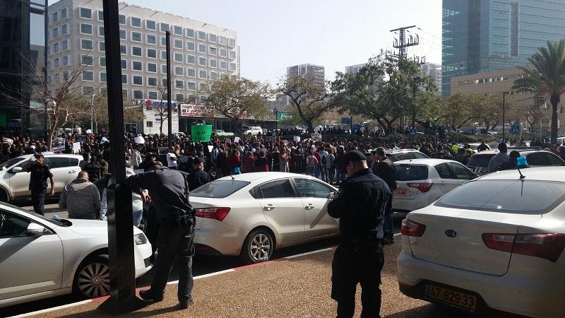 הפגנת הפליטים מאריתראה. צילום: לימור קריספין