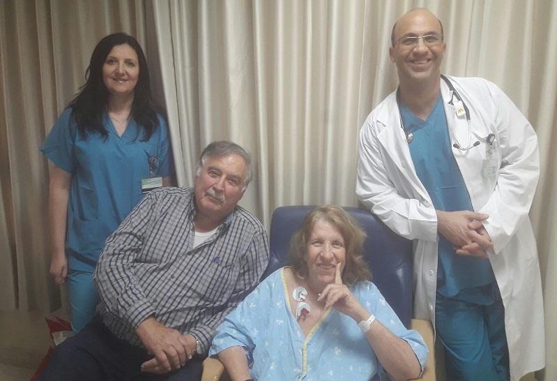 משה וליאורה שמואל. צילום באדיבות בית החולים מאיר
