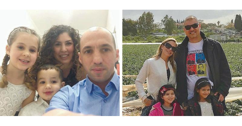 משפחת דהן ומשפחת אמר. צילומים פרטי