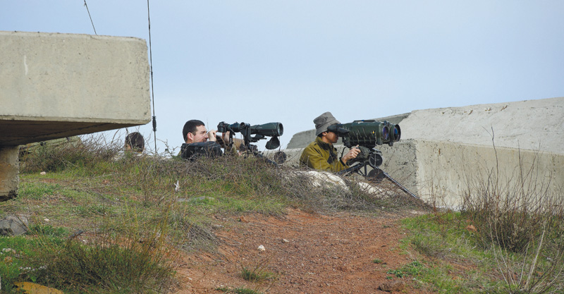 חיילים בגבול הצפון השבוע צילום גיל אליהו