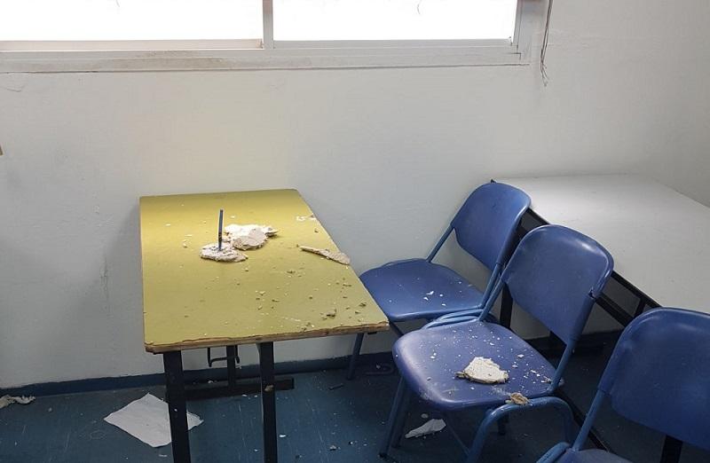 הכיתה בה נפלה התקרה