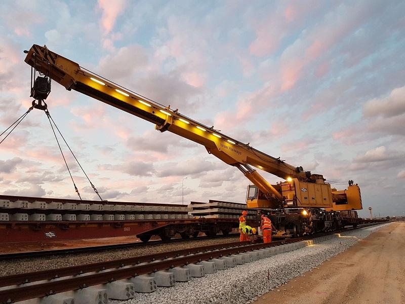 עבודות תשתית. צילום: רכבת ישראל