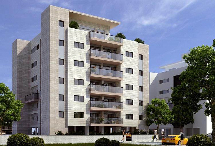 הדמיה של פרויקט הבנייה ברחוב האסיף 2: 3Ddesign