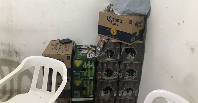 אלכוהול שנתפס בדירה ברחוב דב הוז