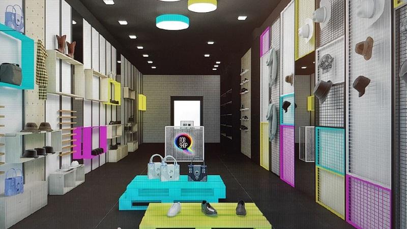 הדמיה לחנות פופ אפ בקניון ארנה