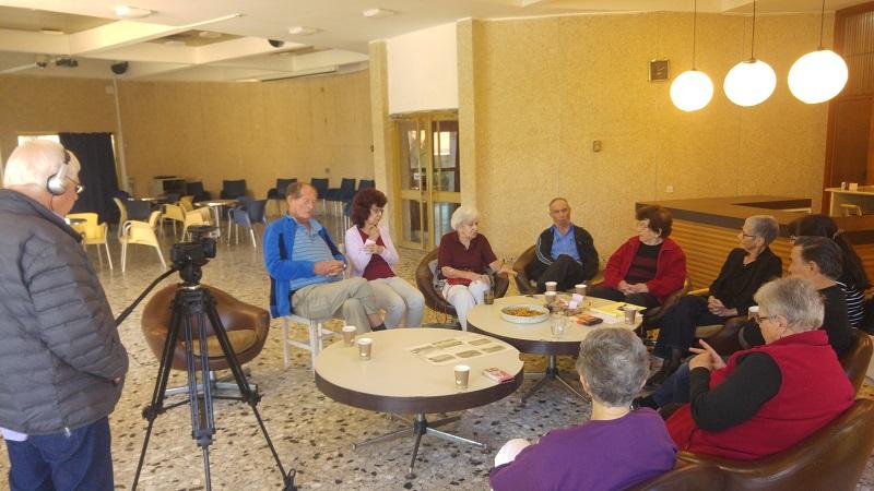 """מפגש ילדי נגבה שנערך לקראת תערוכת """"תש""""ח בהרצליה. צילום: עיריית הרצליה"""