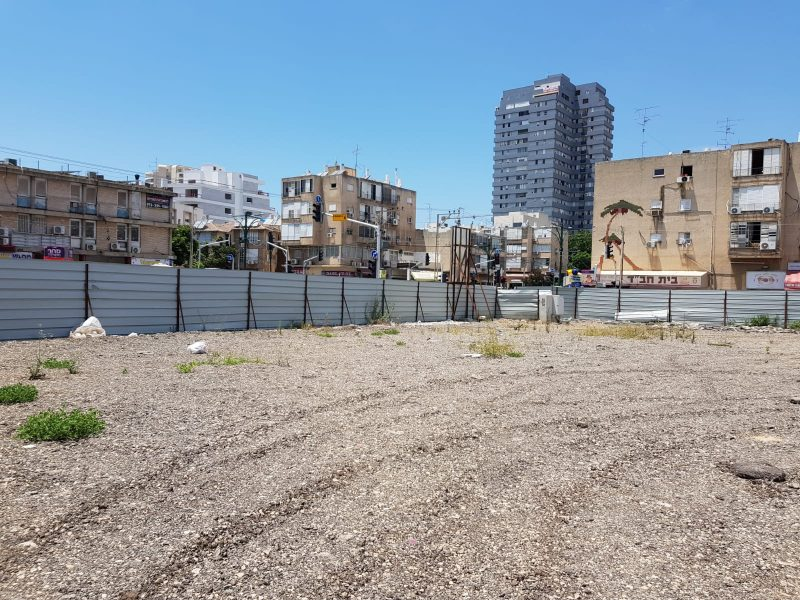 השטח בו יוכשר החניון. צילום עיריית הרצליה