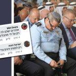 """מימין: מפכ""""ל המשטרה רוני אלשייך, הודעות הנאצה. צילום אליהו הרשקוביץ"""