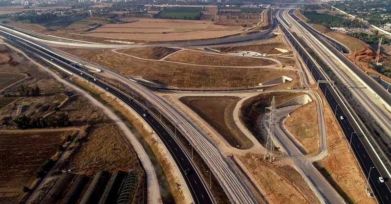 החיבור החדש של כביש 531 וכביש 20. צילום נתיבי ישראל