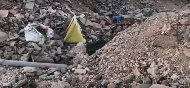 פסולת במתחם גליל ים. צילום יוסי פרי