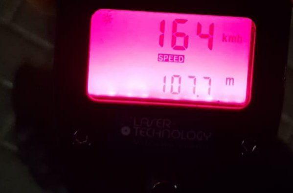 צילום מתוך מצלמת המהירות של השוטרים