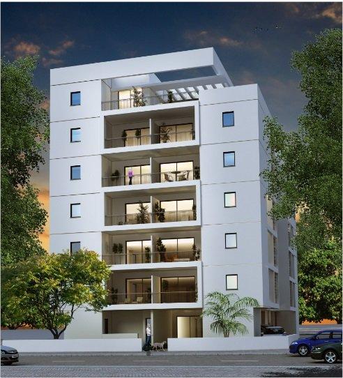 הדמיית הפרויקט של החברה לחיזוק מבנים בישראל ברחוב אוסישקין בהרצליה