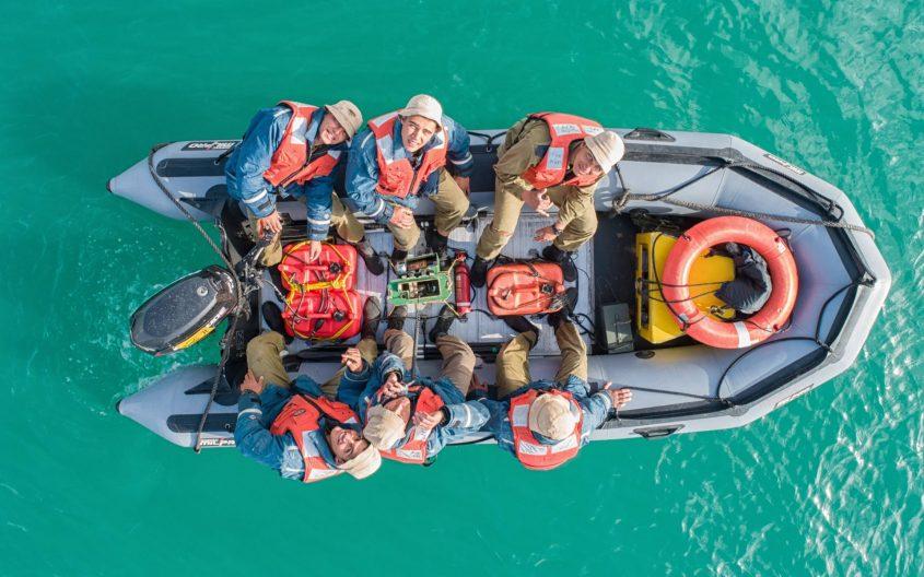 צוערי קורס חובלים במהלך ההפלגה המסכמת של שלב הבסיס בקורס