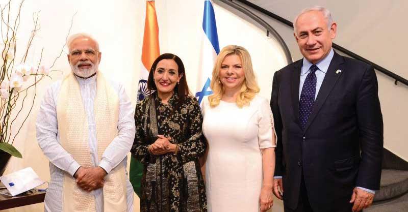 פושקרנה עם בני הזוג נתניהו וראש ממשלת הודו, נרנדרה מודיצילום אבי אוחיון