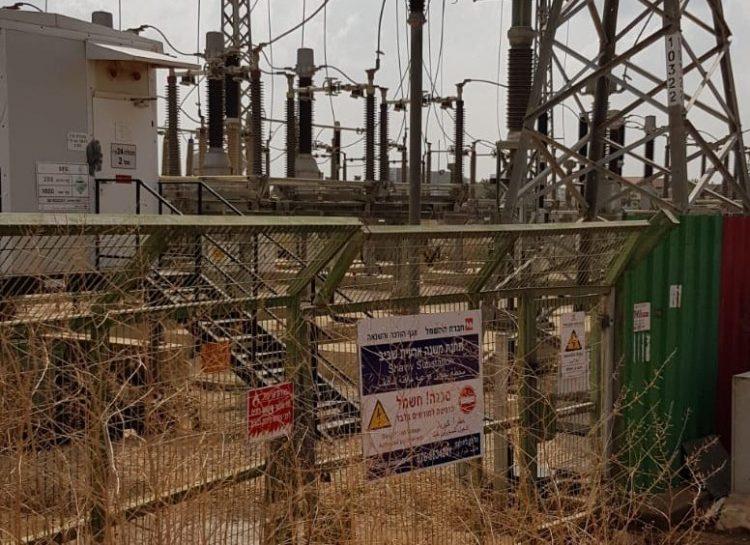 התחנה של חברת החשמל ביד התשעה. צילום יהודית לוזון