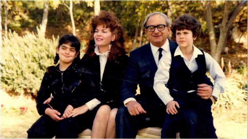 משפחת נבון. מימין: ארז, יצחק, אופירה ונעמה. צילום: לשכת העיתונות הממשלתית