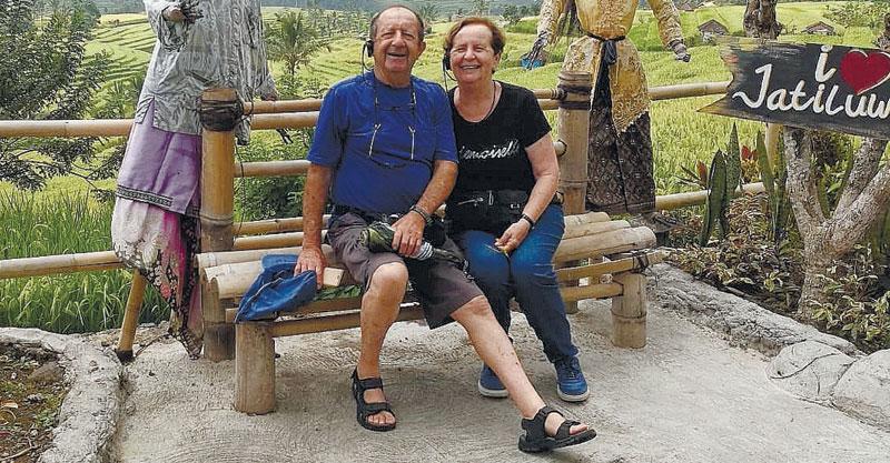 """דינה פורת ז""""ל ובעלה יצחק"""