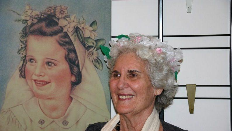 יום הולדת 75 לנחמה בידרמן, שנחגג ביום האם, וציור שלה כילדה שצייר חייל הבריגדה היהודית