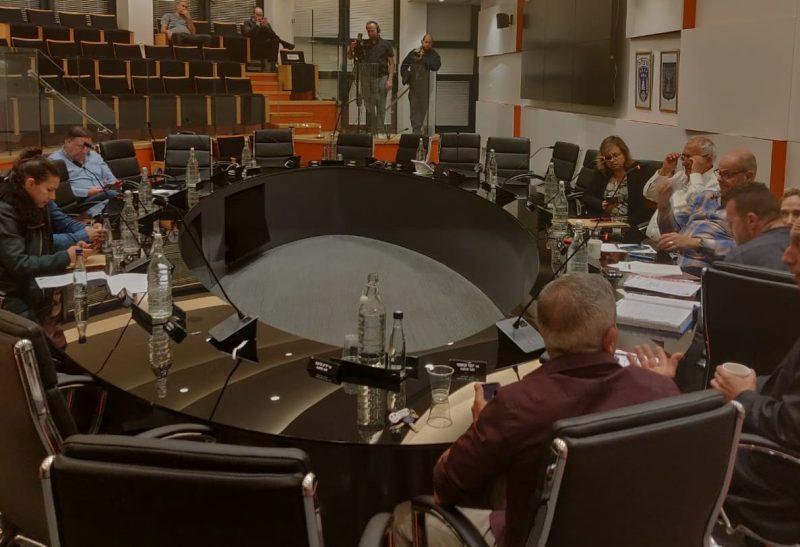 אולם ישיבות המועצה, אתמול