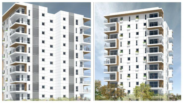 הדמיית הפרויקט לדיור בר השגה ברחוב אמה טאובר בהרצליה. הדמייה: באדיבות עיריית הרצליה
