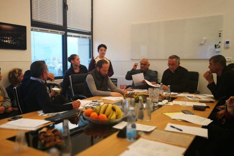 הורי ותלמידי הנגיד בפגישה עם בכירי העירייה