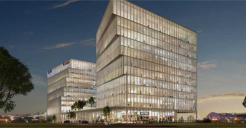 מתחרה חדש? מרכז מסחר ומשרדים בן 14 קומות יוקם סמוך לקניון רננים
