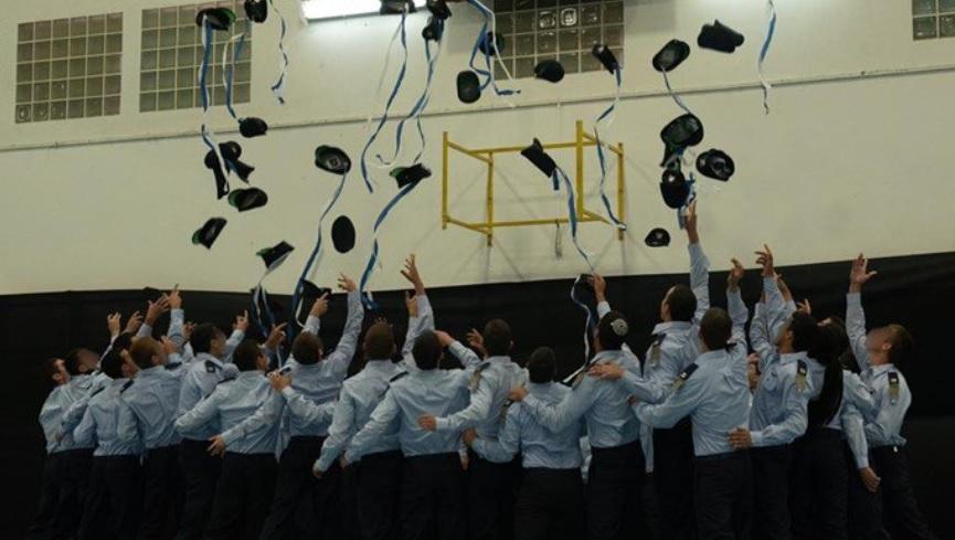 """טקס סיום קורס טיס אתמול בחצרים. צילום דובר צה""""ל"""