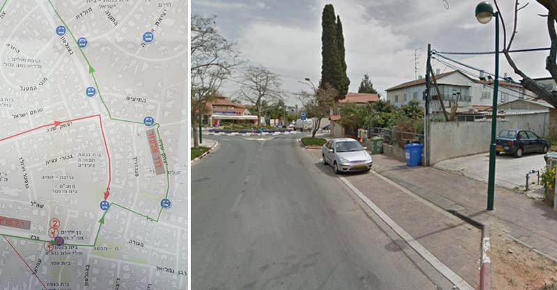רחוב יצחק שדה ומפת הסדרי התנועה החדשים
