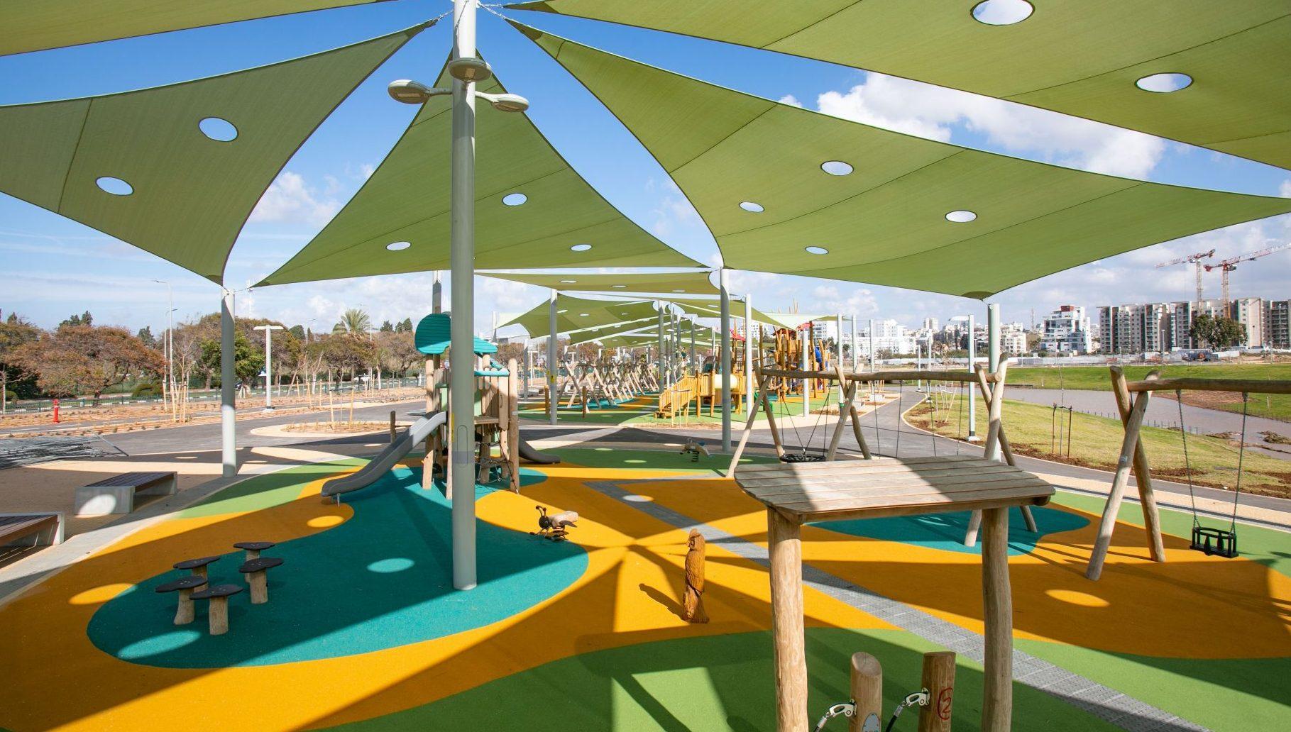 מתחם המשחקים החדש בפארק גליל ים. צילום עיריית הרצליה