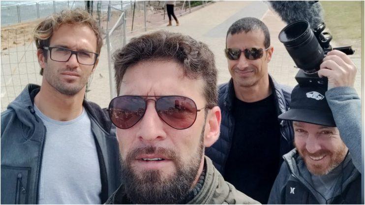 """מימין לשמאל: איתי גולדשטיין, עדי גלוסקא, יונתן יעקובוביץ וד""""ר יוני קליין"""