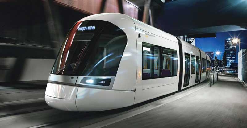 """הדמיית הרכבת הקלה בתל אביב. צילום נת""""ע"""
