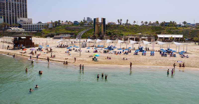 חוף אכדיה בהרצליה. צילם עיריית הרצליה
