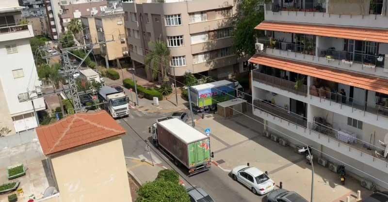 צומת הרחובות סוקולוב-אחד העם בהרצליה. צילום באדיבות התושבים