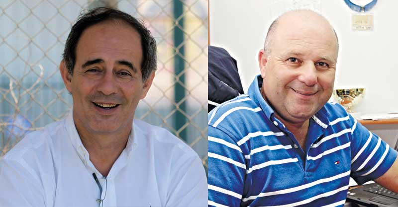 אלי חיו חמו (מימין) ואריאל שיימן. צילום עזרא לוי