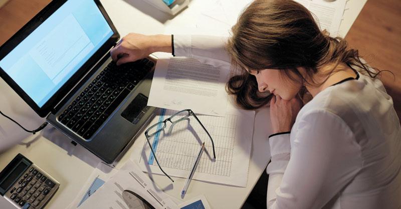 אילוסטרציה של אשה עייפה