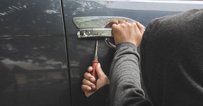 אילוסטרציה של גנבת רכב